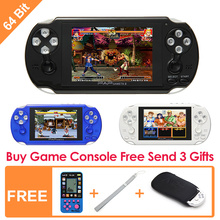 64Bit Handheld Game Console 4.3''  Video Game Console  Support Built-in 631 CPS/NEOGEO/GBA/SFC/MD/FC/GBC/SMS/GG Games Mp5 Player