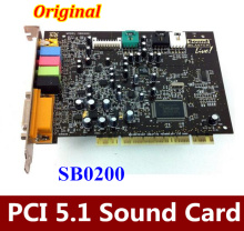 Original  1PCS   For Creative SoundBLASTER LIVE 5.1 Surround PCI Sound Card SB0200