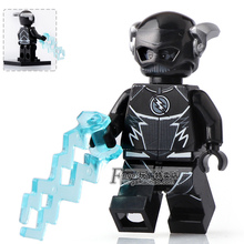 Single Sale Black Flash with Lighting DC Legends of Tomorrow Super Heroes Justice League minifig Building Blocks Toys Gift(China)