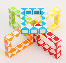 Newest ZCUBE Small 24 Twist Puzzle Snake Cube Magic Cube Puzzle Learning maze Educational kids Toys as a Gift children Drop Ship