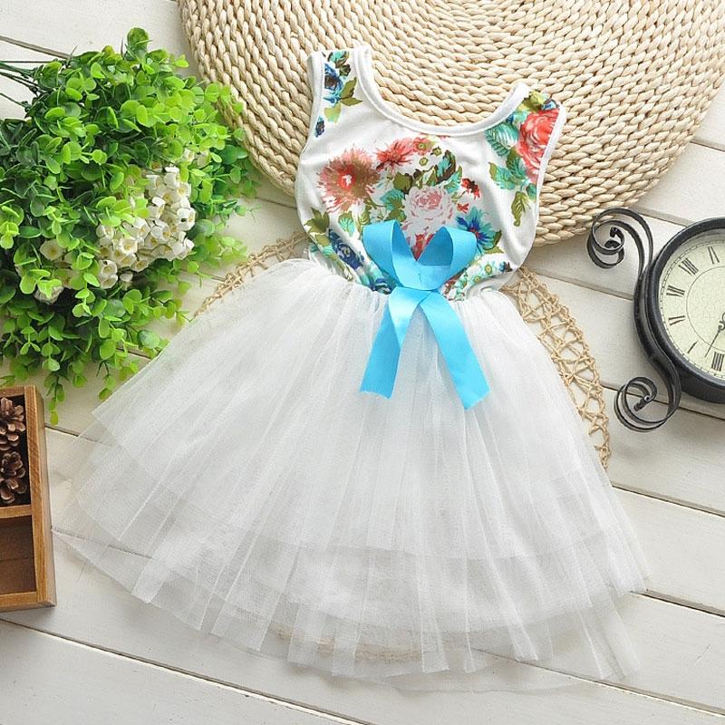 Toddler Girl children clothing brand flower white dress costume for summer girl kids clothes party princess tutu dresses dress<br><br>Aliexpress