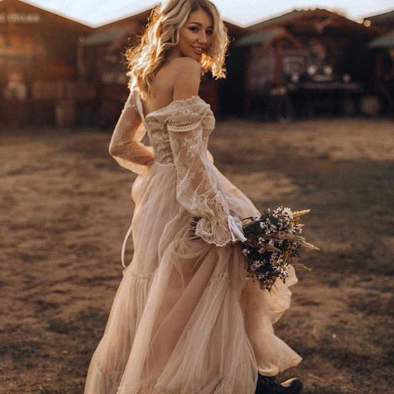 2019 Fantasy Bohemian Casual Beach Wedding Dresses Elegant Lace Long Sleeves Romantic Boho Bridal Gowns Ax190 Aliexpress,Wedding Evening Dresses At Truworths