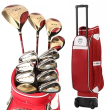 Authentic Polo Golf Club Complete Sets Trolley Tugboat Bag Female Full Left Beginners Rod Golf Ball Bag Cue Kit Wood Iron Clubs(China)