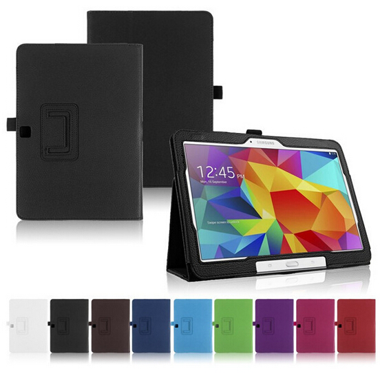 Protective leather cover case funda for Samsung Galaxy tab4 10.1 T530/T531/T535 10.1  tablet case+stylus<br><br>Aliexpress