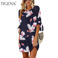 Buy TIGENA Plus Size 5XL Women Summer Dress 2018 Floral Print Boho Beach Chiffon Dresses Big Sizes Sundress Women Summer Robe Femme for $9.16 in AliExpress store