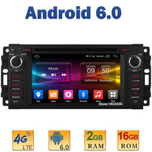 Quad Core 2GB RAM 4G LTE SIM WIFI Android 6.0 Car DVD Player Radio For Jeep Cherokee Compass Commander Wrangler Chrysler 300C