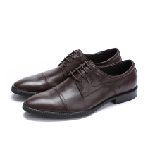 Large size EUR46 black / brown dress shoes mens wedding shoes sheepskin leather office shoes mens business shoes(China)