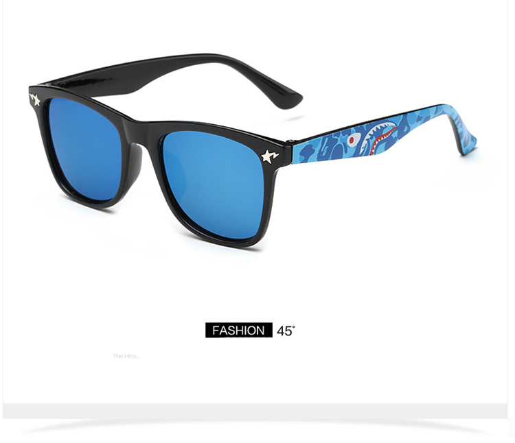 Fashion Kids Sunglasses lovely Sunglasses Mosaic Boys Girls Pixel Eyewares With Case Children Gift (19)