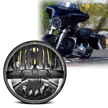 "For Harley 1994-2013 Touring Yamaha V Star 1100 Classic 7"" Led Motorcycle Headlight 7inch Projector Daymaker with Hi/Lo beam(China)"