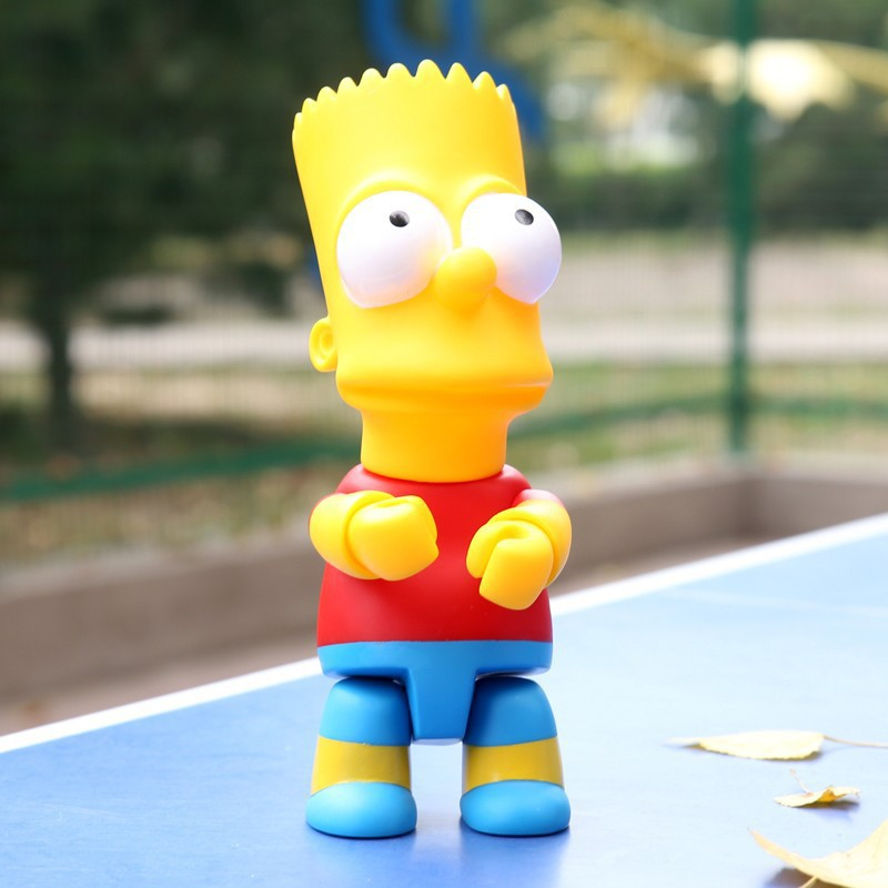 Anime Cartoon QEE The Simpsons Action Figure Toys 1/7 scale painted figure Bart Simpson figure Garage Kits Dolls Brinquedos New<br><br>Aliexpress