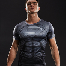 Superman Shirt 3D Printed T shirts Men Compression Shirt 2017 New Cosplay Short Sleeve Crossfit Tops For Male Fitness Clothing(China)