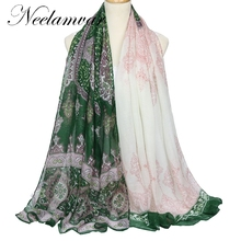 Neelamvar WOMAN SCARF cotton voile polyester scarves national retro warm autumn and winter scarf shawl printed free shipping(China)