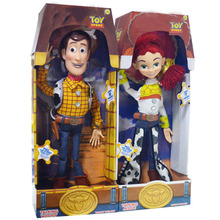 15 inch Pixar Toy Story 3 Talking Woody Jessie Pvc cartoon Action Figure Collectible Model Toy Doll for kids christmas gift(China)