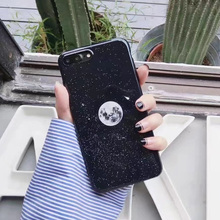 IMD full protection cartoon glossy moon stars cosmos soft gel luxury silicone case for iphone 6 6s 6 s 7 plus cases phone cover