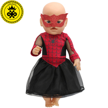 Movie Fans Spiderman Dress Up Mask Sets Baby Born Doll Clothes For 43cm Baby Born Doll Zapf Doll Accessories 139(China)