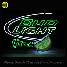 Bud Light Lime Neon Sign Handcrafted Painted Board Neon Bulbs Art Glass Tube Iconic Decorate Sign LOGO light signs illuminated(China)