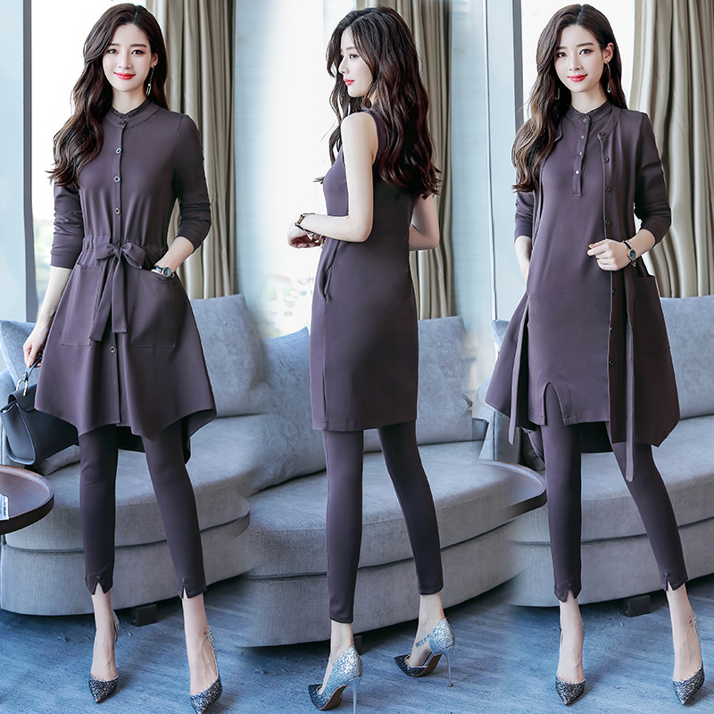 2018 autumn new female was thin pants suit Western style fashion three-piece skirt female summer