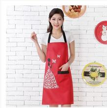 Home Creative cute cartoon kitchen apron MM fashion waterproof and waterproof adult hoodie nail tea shop overalls(China)