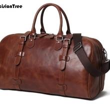 2dbea8fb0c Vintage Genuine Leather extra large weekend Duffel Bags Large Capacity  Travel  laptop Bags Waterproof Leather Luggage