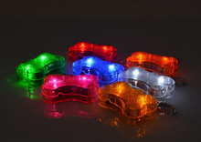 10PCS 5009# Pet Dog Tag Collar Id Tag Flashing Drop Pendant Safety Clip On Glow In The Dark Light Led Tag(China)