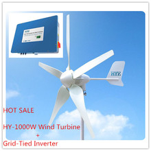 HYE 1KW /1000W Wind power on grid system grid tie system with grid-tied inverter