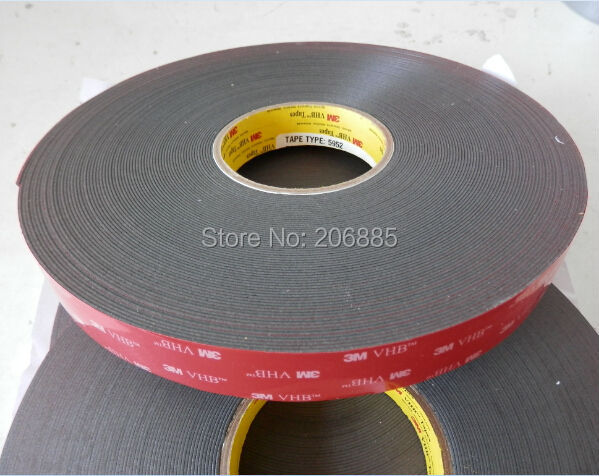 3M VHB 5952 high sticky acrylic adhesive foam tape/it can sticky to Glass,Metal and so on size is 25mm*33M/15rolls/lot<br>