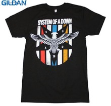 Cool Funny T Shirt High Quality Tees O-Neck System Of A Down Eagle Colors Comfort Sof Men New Style Tee Shirt(China)