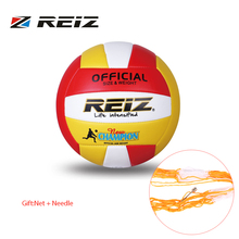 REIZ Soft PU Volleyball Official Size 5# Volleyball Professional Indoor & Outdoor Training Ball With Free Gift Net Needle New