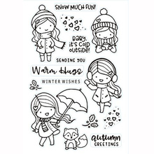 KLJUYP Lovely Girls Clear Stamps Scrapbook Paper Craft Clear stamp scrapbooking KL160(China)