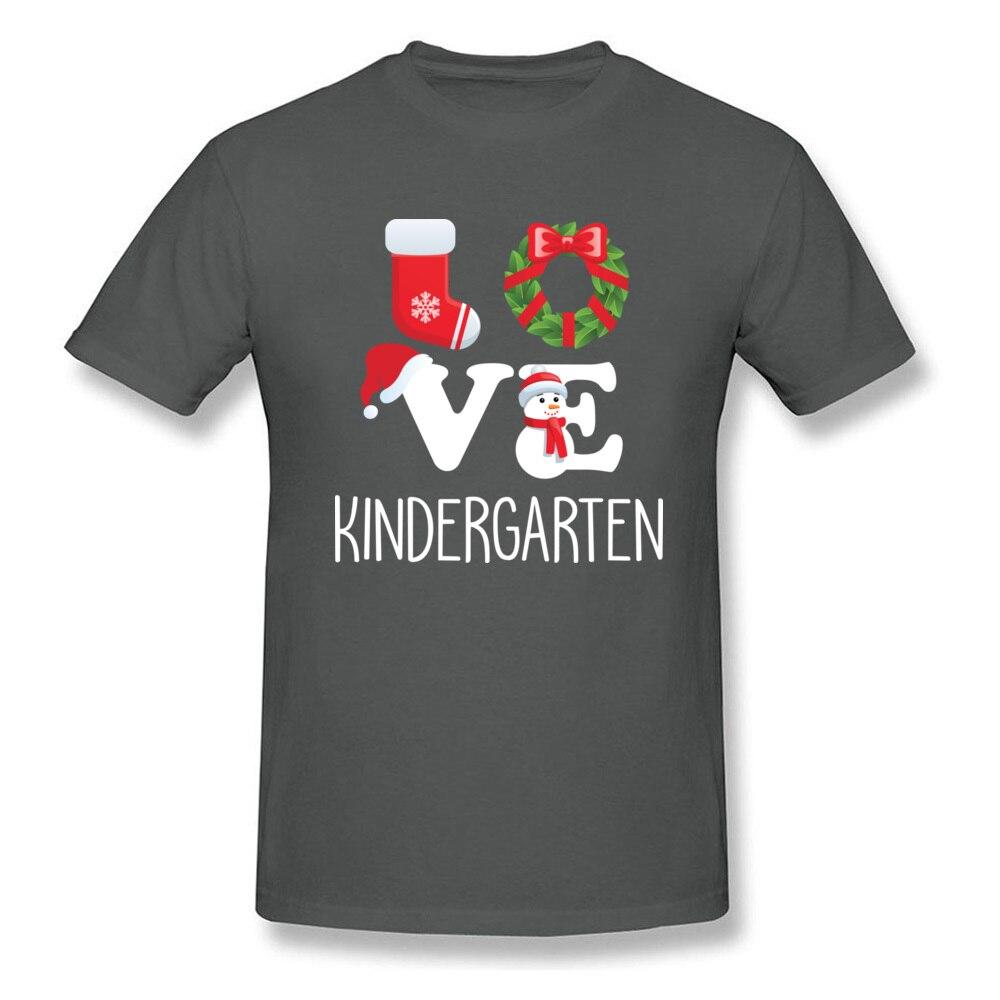 Love Kindergarten Shirt Teacher Christmas Gift_carbon