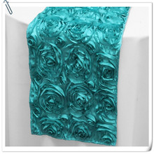 Hot Sale !!! Top Quality  Embrodiery  20pcs turquoise  Table Runners 30x275cm For Wedding &Banquet Decoration FREE SHIPPING