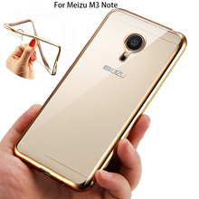 Ultra Thin Rose Gold Plating Crystal Clear Case for MEIZU M3 Note Luxury Soft TPU Back Cover for Meizu M3 Note Silicone Cases
