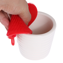 Silicone Dish Washing Brush Bowl Pot Pan Wash Cleaning Brushes Cooking Tool Cleaner Sponges Scouring Pads Kitchen Accessories(China)