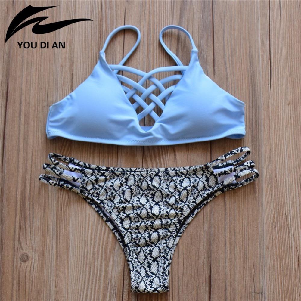 17 Bikinis Swimwear Women New Summer Sexy Swimsuit Bath Suit Bikini Striped Biquini Bikini Set Beach Bathing Suit 8