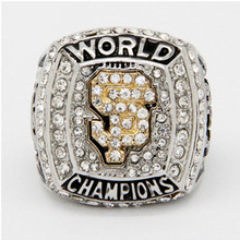 Wholesale 2012 San Francisco Giants Major League Baseball Zinc Alloy silver plated Custom Sports Replica men Championship Ring(China)