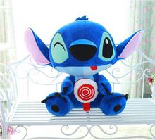 Free Shipping 30/35CM Cute Cartoon Froze Lilo and Stitch Plush Toy Doll Stuffed Toys Dolls Baby Toy(China)