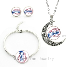 The most popular sports style american Clippers basketball team jewelry sets statement necklace earrings bracelet ball fans M66