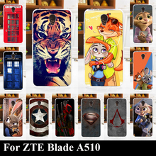 For ZTE Blade A510 Soft Silicone tpu Plastic Mobile Phone Cover Case DIY Color Paitn Cellphone Bag Shell Free Shipping