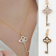 New Fashion Hollow Key Retro Long Pendant Sweater Chain Necklace Fine Jewelry Drop Shipping NL-0307-GD