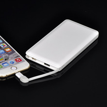 8000mah Ultra Slim Card Power Bank Mobile Powerbank Portable External Battery Charger for Samsung Xiaomi iPhone + Adapter