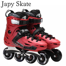 Japy Skate Flying Eagle F6 Inline Skates With 8 Original Hyper Wheels Falcon Roller Skating Shoes Slalom Free Skating Patines(China)