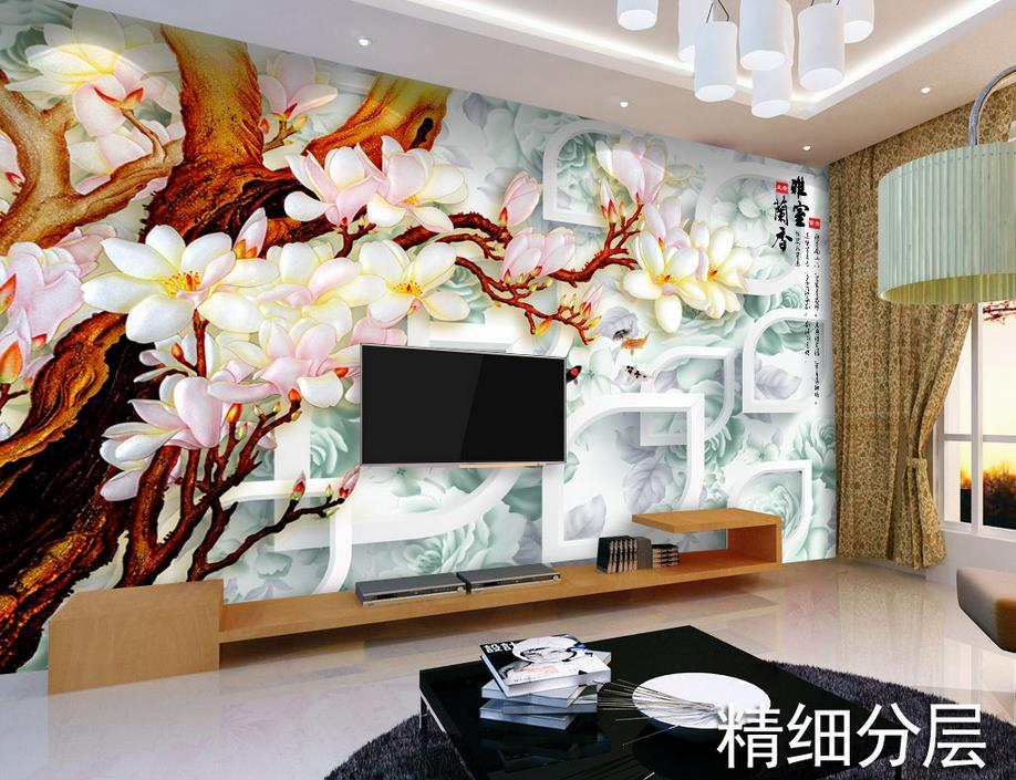 wallpaper roll custom 3d wall murals wallpaper Gorgeous elegant flower wallpapers for living room 3d photo wallpaper <br><br>Aliexpress