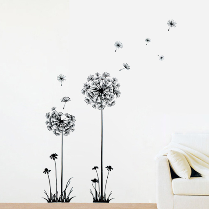 FA Removable Flower Wall Stickers Decal DIY TV Background Art Home Decor Boil