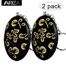 Buy 2018 Ariza 2 pack Self Defense Personal Alarm Keychain gold color prnting girls women elderly security for $8.53 in AliExpress store