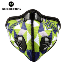ROCKBROS Bicycle Cycling Outdoor Sports Masks Activated Carbon Air Filter Mask Anti-Pollution Mouth-Muffle Dust Half Face Covers(China)