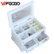 WFGOGO Custom Jewelry Makeup organizer E0 E1 MDF Wooden Storage box Beautiful Design box Jewelry for display,Support OEM & ODM(China)