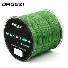 DAGEZI 500m 8 strand braid fishing line Rope Super Strong smoother 100% PE Braided Multifilament fishing lines with box(China)