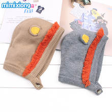 Adorable Lion Ear Baby Bunny Beanie Cap Autumn Winter Warm Toddler Boys Girls Hat Super Soft Handmade Knitting Pattern Kids Hats