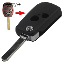 jingyuqin Car style Modified 2/3 Buttons Remote Black Flip Key Shell For Honda CIVIC CRV JAZZ ACCORD ODYSSEY(China)