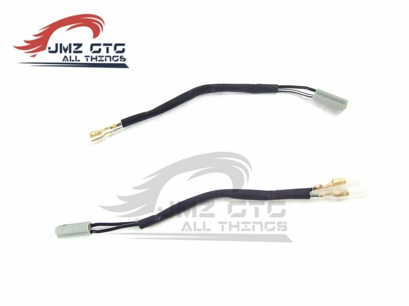 4X Turn Signals Adapter Leads Plug For Yamaha YZF R6 R1 FZ6 FZ1 FZ 6R FZ10 TMAX